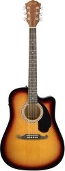 Fender FA-125CE Dreadnought, Sunburst электроакустическая гитара, увет санберст