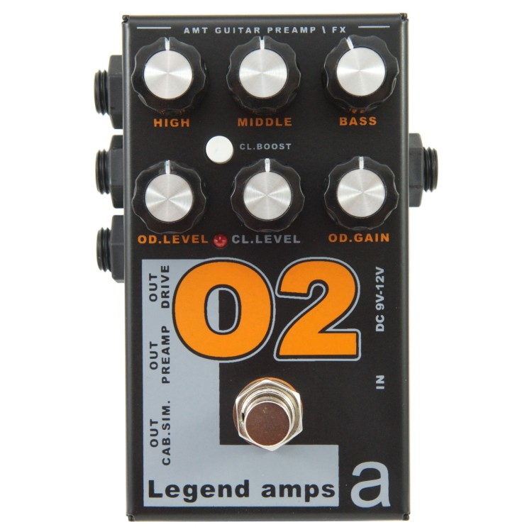 AMT O-2 Legend amps 2 Guitar preamp (Orange) педаль
