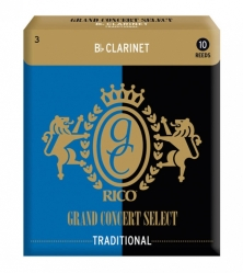 Rico RGC10BCL300 Grand Concert Select Traditional трость для кларнета Bb, размер 3.0