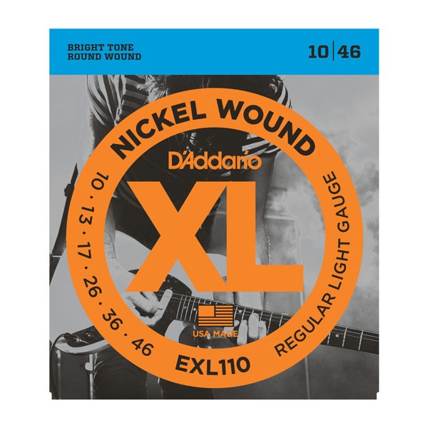 D`Addario EXL110 XL NICKEL WOUND струны для электрогитары Regular Light, 10-46