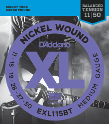 D`Addario EXL115 XL NICKEL WOUND струны для электрогитары Blues/Jazz Rock 11-49
