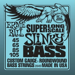 "Ernie Ball 2849 струны для бас-гитары Nickel Wound Bass Super Long Scale (35""+) (45-65-85-105)"