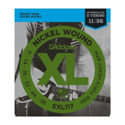 D`Addario EXL 117 XL NICKEL WOUND струны для электрогитары Meduim Top/Extra Heavy Bottom 11-56