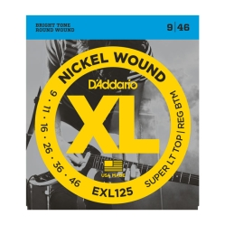 D`Addario EXL125 XL NICKEL WOUND струны для электрогитары Super Light Top/Regular Bottom 9-46