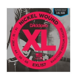 D`Addario EXL 157 XL NICKEL WOUND Струны для электрогитары Baritone-Medium 14-68