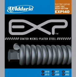 D`Addario EXP 140 COATED NICKEL Струны для электрогитары Light Top/Heavy Bottom 10-52