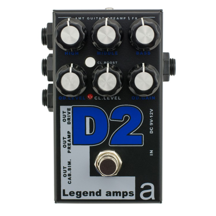 AMT D-2 Legend amps 2 Guitar preamp (Diezel) педаль