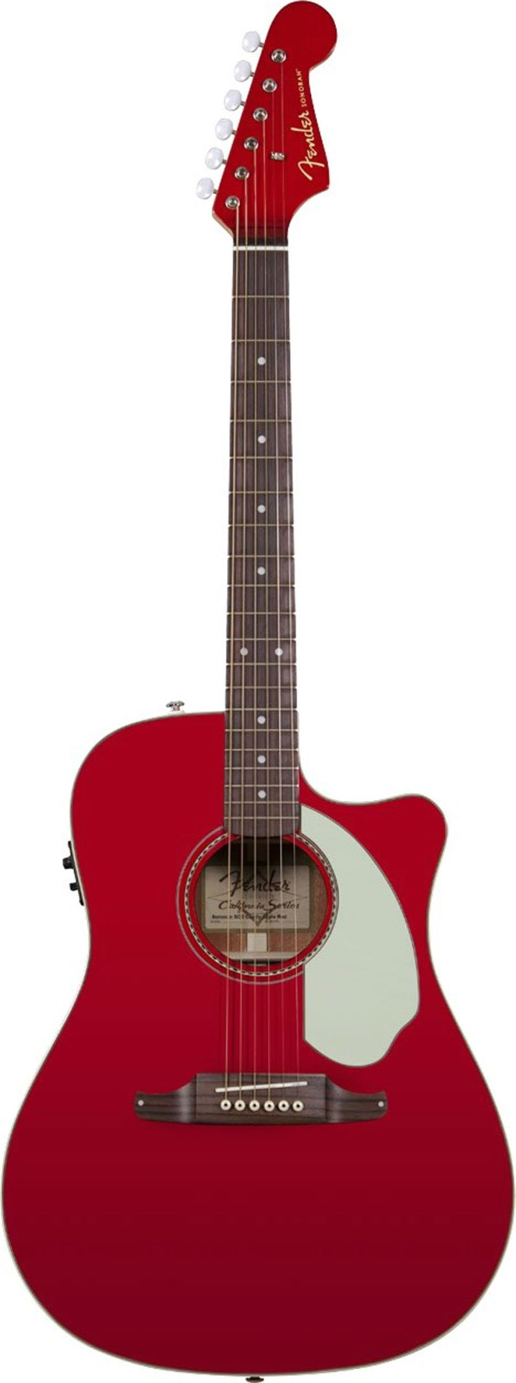 FENDER SONORAN SCE CANDY APPLE RED WITH MATCHING HEADSTOCK Электро-акустическая гитара, цвет красный